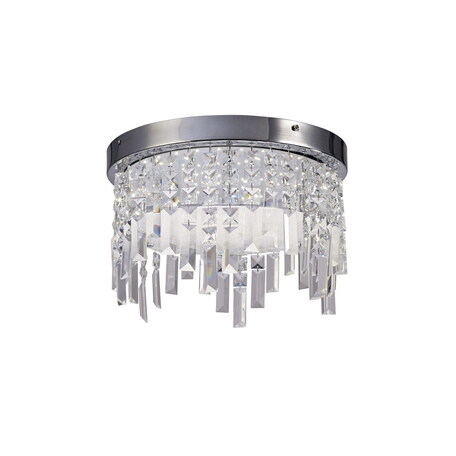 Люстра-каскад Mantra Kawai 5522, хром, матовый, прозрачный, металл, стекло, хрусталь
