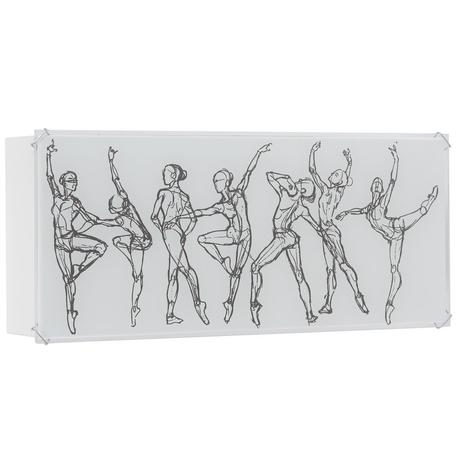 Настенный светильник Nowodvorski Ballerinas 6466, 1xE27x60W, белый, металл, стекло