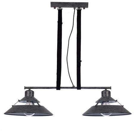 Подвесной светильник Mantra Industrial 5443, серый, металл, текстиль