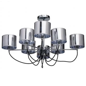 Потолочная люстра MW-Light Лацио 103010908, 8xE14x40W, хром, металл, пластик