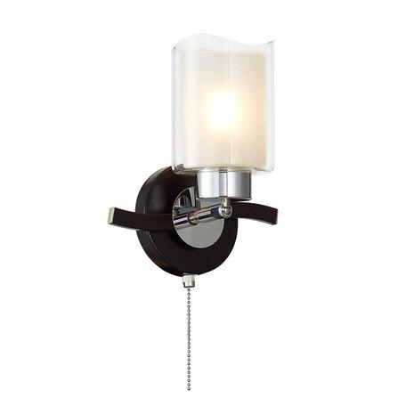 Бра с регулировкой направления света Citilux Фортуна CL156312, 1xE27x75W, венге, белый, металл, стекло