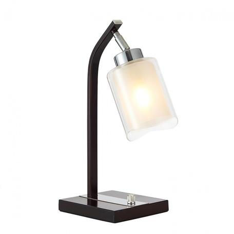 Настольная лампа Citilux Фортуна CL156812, 1xE27x75W, венге, белый, металл, стекло