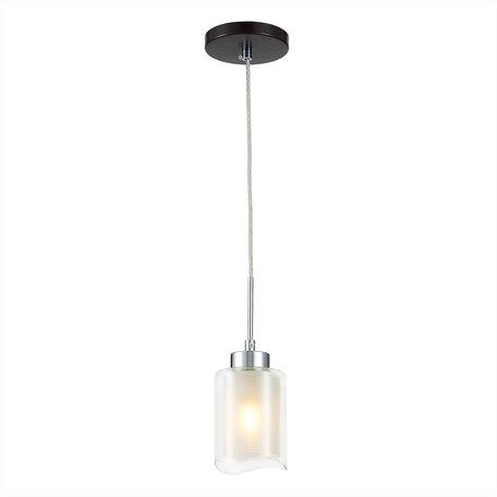 Подвесной светильник Citilux Фортуна CL156112, 1xE27x75W, венге, белый, металл, стекло