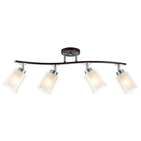 Потолочный светильник с регулировкой направления света Citilux Фортуна CL156142, 4xE27x75W, венге, белый, металл, стекло