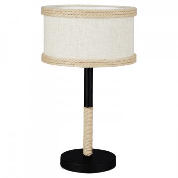 Настольная лампа Lussole LGO Griffin LSP-0543, IP21, 1xE14x40W, бежевый, черный, металл, текстиль