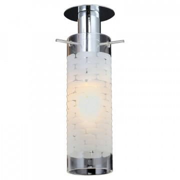 Встраиваемый светильник Lussole LGO Leinell LSP-9551, IP21, 1xE14x40W, хром, белый, металл, стекло