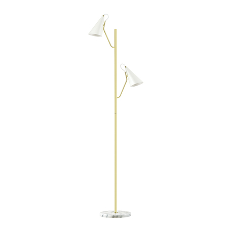 Торшер Lumion Moderni Watson 4439/2F, 2xE14x40W, матовое золото, белый, металл