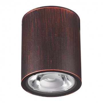 Потолочный светодиодный светильник Novotech Street Tumbler 358013, IP65, LED 6W 3000K 520lm, медь, металл, стекло