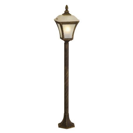 Уличный фонарь Toplight Willa TL1170O-01BG, IP44, 1xE27x60W, коричневый с золотой патиной, белый с коричневым, металл, металл со стеклом