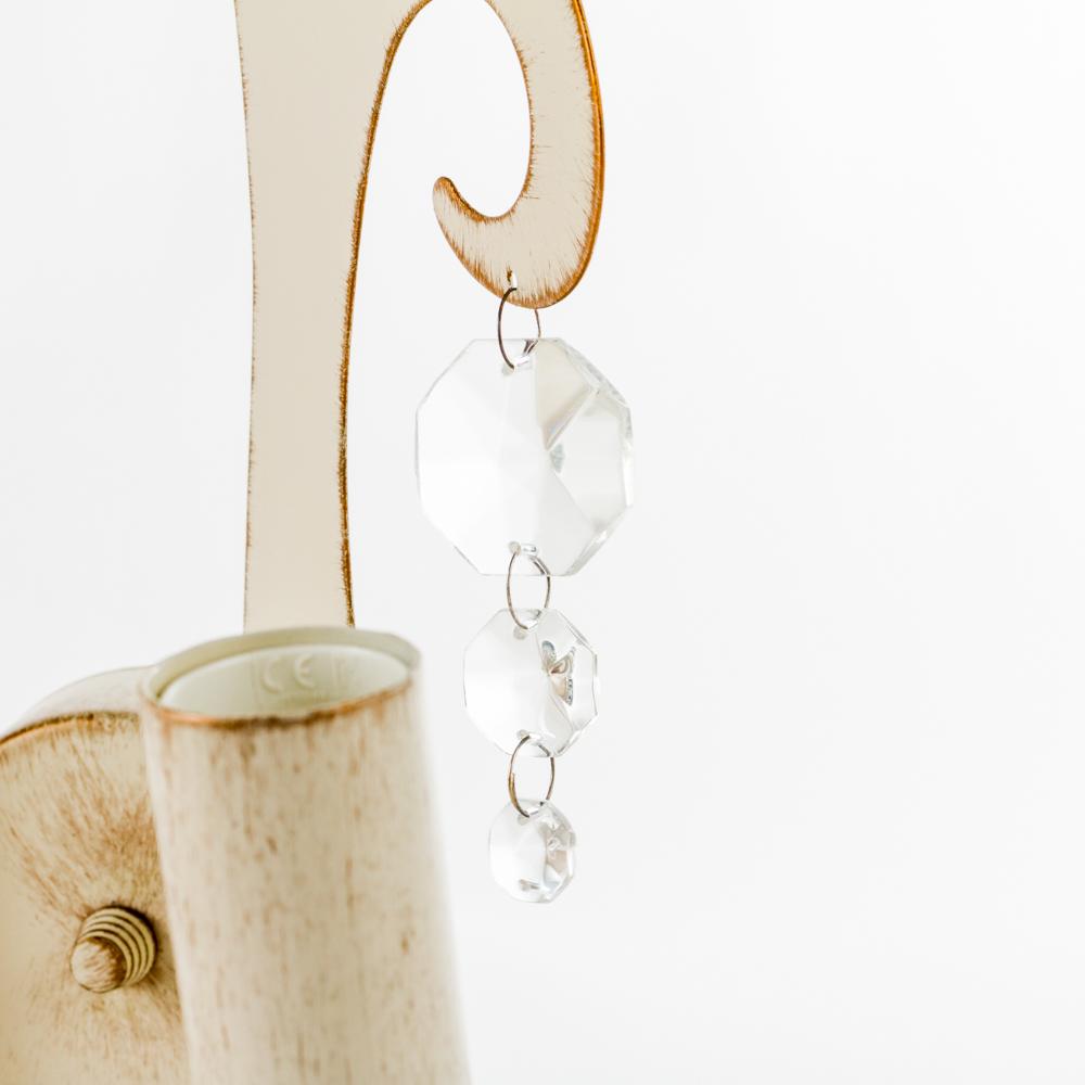 Бра Nowodvorski Sevilla 3506, 2xE14x60W, бежевый с золотой патиной, прозрачный, металл, хрусталь - фото 2