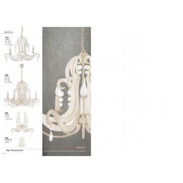 Бра Nowodvorski Sevilla 3506, 2xE14x60W, бежевый с золотой патиной, прозрачный, металл, хрусталь - миниатюра 6
