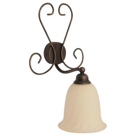 Бра Nowodvorski Paris 3640, 1xE27x60W, коричневый, бежевый, металл, стекло - миниатюра 1