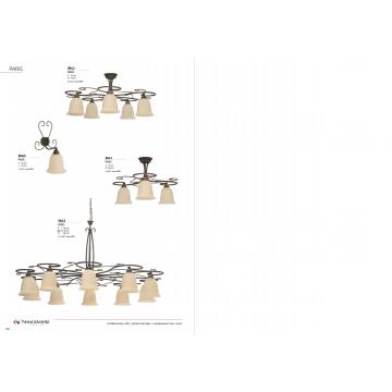Бра Nowodvorski Paris 3640, 1xE27x60W, коричневый, бежевый, металл, стекло - миниатюра 3