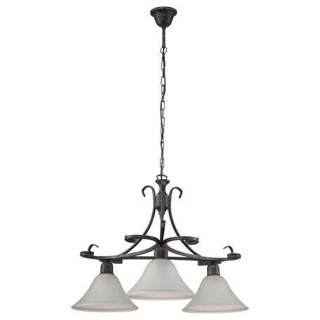 Подвесная люстра Nowodvorski Flores 3525, 3xE27x60W, серый, белый, металл, стекло
