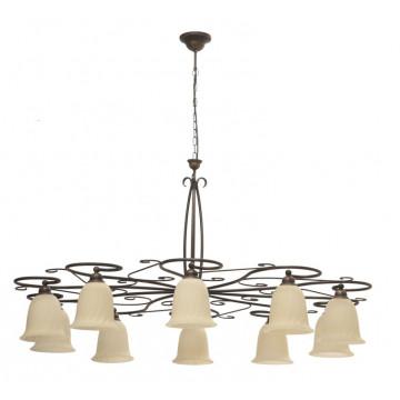 Подвесная люстра Nowodvorski Paris 3643, 10xE27x60W, коричневый, бежевый, металл, стекло