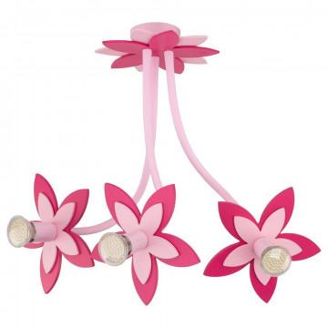 Подвесная люстра Nowodvorski Flowers 6894, 3xGU10x35W, розовый, дерево, металл