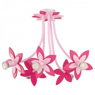 Подвесная люстра Nowodvorski Flowers 6896, 5xGU10x35W, розовый, дерево, металл