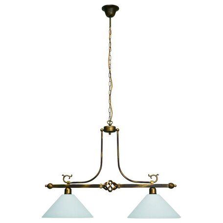 Подвесной светильник Nowodvorski Cora 3484, 2xE27x60W, бронза, белый, металл, стекло