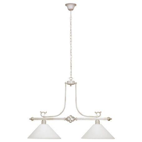 Подвесной светильник Nowodvorski Cora 3486, 2xE27x60W, белый с золотой патиной, белый, металл, стекло