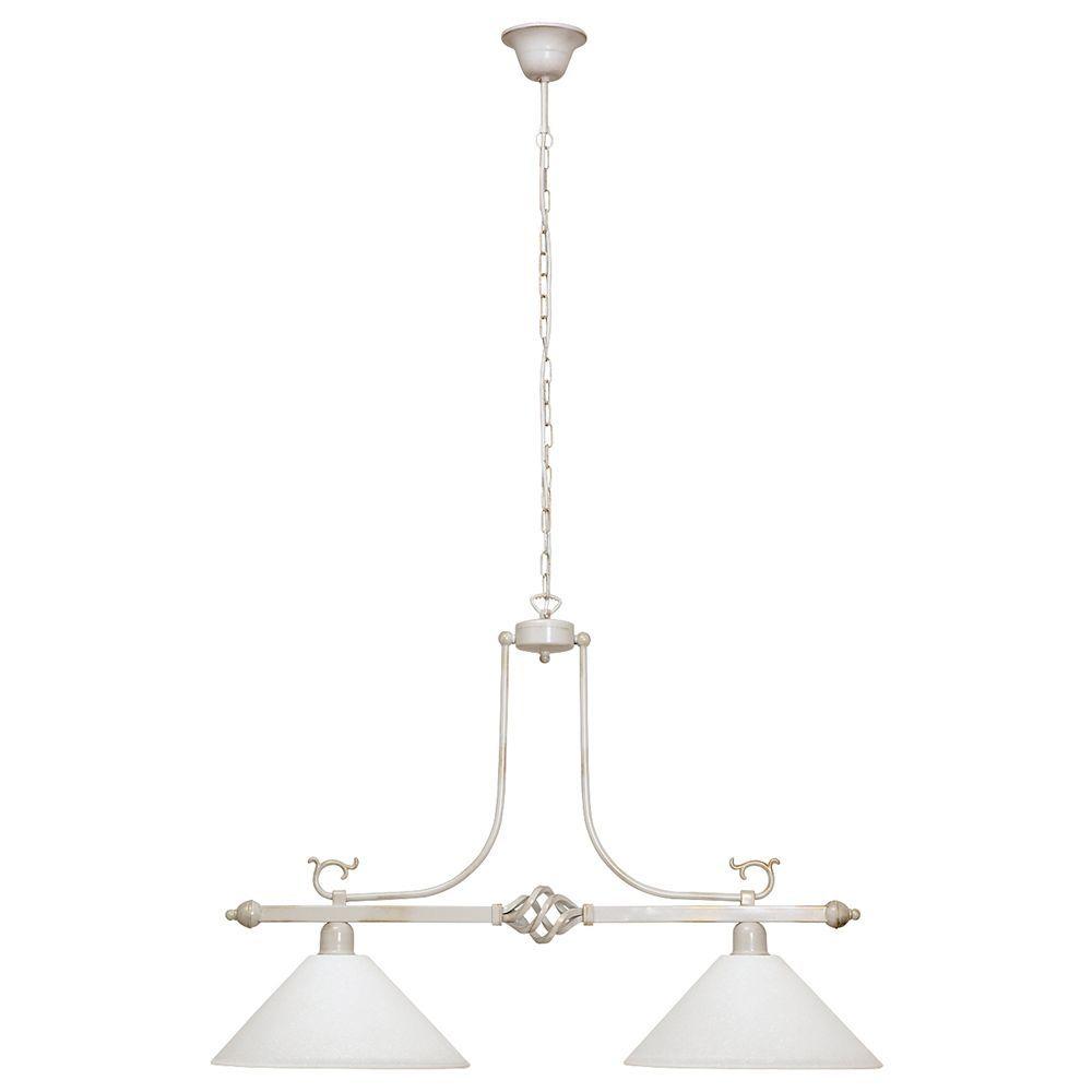 Подвесной светильник Nowodvorski Cora 3486, 2xE27x60W, белый с золотой патиной, белый, металл, стекло - фото 1