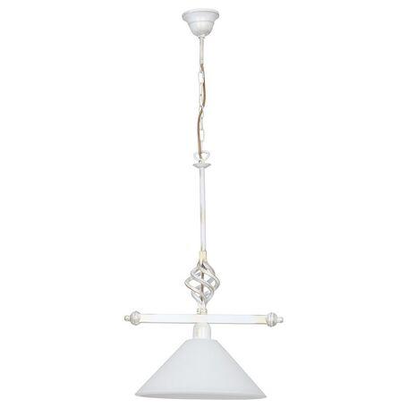 Подвесной светильник Nowodvorski Cora 4746, 1xE27x60W, белый с золотой патиной, белый, металл, стекло