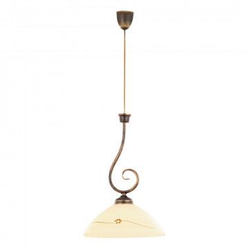 Подвесной светильник Nowodvorski Julia 692, 1xE27x60W, бронза, бежевый, металл, стекло