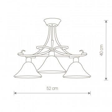 Схема с размерами Nowodvorski 3526