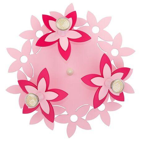 Потолочная люстра Nowodvorski Flowers 6895, 3xGU10x35W, розовый, дерево, металл