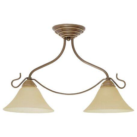 Потолочный светильник Nowodvorski Victoria 2996, 2xE27x60W, бронза, коричневый, бежевый, металл, стекло