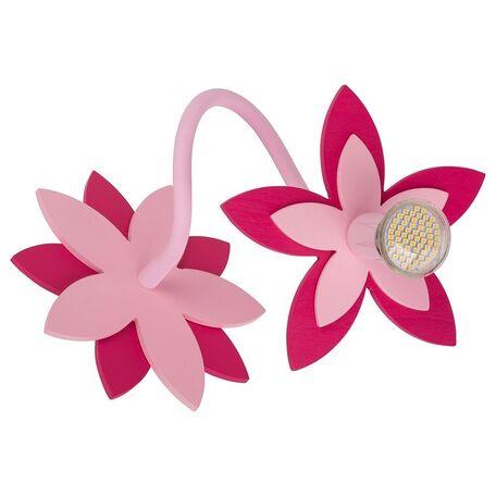 Потолочный светильник Nowodvorski Flowers 6893, 1xGU10x35W, розовый, дерево, металл