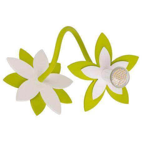 Потолочный светильник Nowodvorski Flowers 6897, 1xGU10x35W, белый, зеленый, дерево, металл