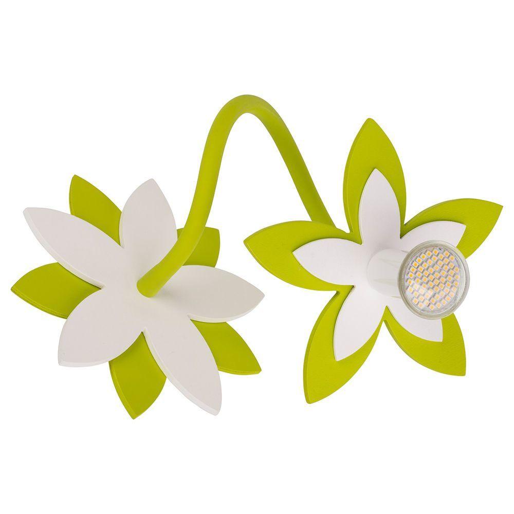 Потолочный светильник Nowodvorski Flowers 6897, 1xGU10x35W, белый, зеленый, дерево, металл - фото 1