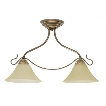 Потолочный светильник Nowodvorski VICTORIA 2996, 2xE27x60W, коричневый, бронза, бежевый, металл, стекло