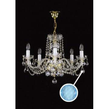 Подвесная люстра Artglass TATANA V. - 6006, 5xE14x40W, стекло