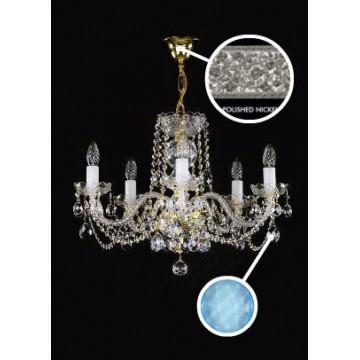 Подвесная люстра Artglass TATANA V. NICKEL CE - 6006, 5xE14x40W, хрусталь Asfour