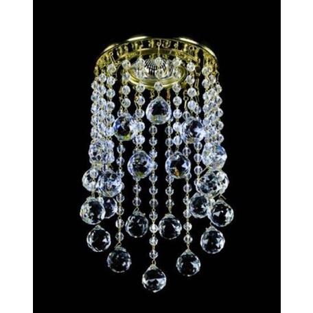 Встраиваемый светильник Artglass SPOT 05 CE SALE, 1xGU10x35W, золото, прозрачный с золотом, прозрачный, металл, хрусталь Artglass Crystal Exclusive