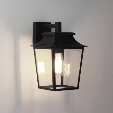 Настенный фонарь Astro Richmond 1340004 (7966), IP23, 1xE27x60W, черный, прозрачный, металл, стекло