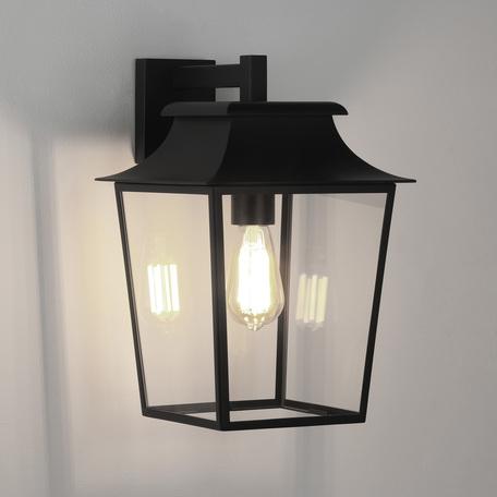 Настенный фонарь Astro Richmond 1340011 (8050), IP23, 1xE27x60W, черный, прозрачный, металл, стекло