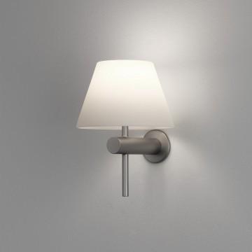 Бра Astro Roma 1050005 (8031), IP44, 1xG9x40W, никель, белый, металл, стекло