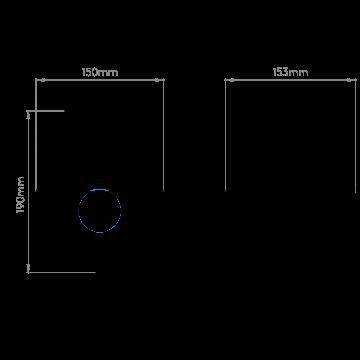 Схема с размерами Astro 1050008
