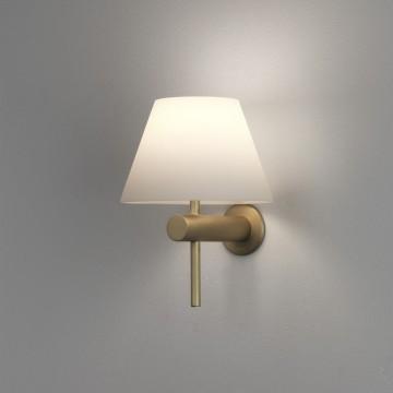 Настенный светильник Astro Roma 1050009 (8055), IP44, 1xG9x40W, матовое золото, белый, металл, стекло