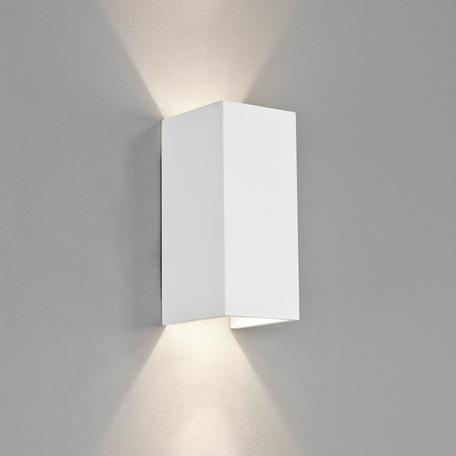 Настенный светодиодный светильник Astro Parma 1187019 (8052), LED 8W 2700K 549.9lm CRI80, белый, под покраску, гипс