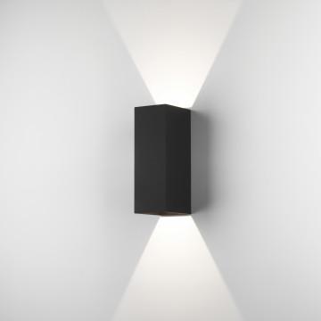 Настенный светодиодный светильник Astro Oslo 1298007 (7989), IP65, LED 7,5W 3000K 270.46lm CRI80, черный, металл, стекло