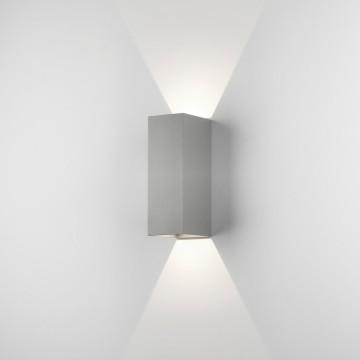 Настенный светодиодный светильник Astro Oslo 1298008 (7990), IP65, LED 7,5W 3000K 270.46lm CRI80, серый, металл, стекло