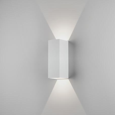 Настенный светодиодный светильник Astro Oslo 1298009 (7991), IP65, LED 7,5W 3000K 270.46lm CRI80, белый, металл, стекло - миниатюра 1