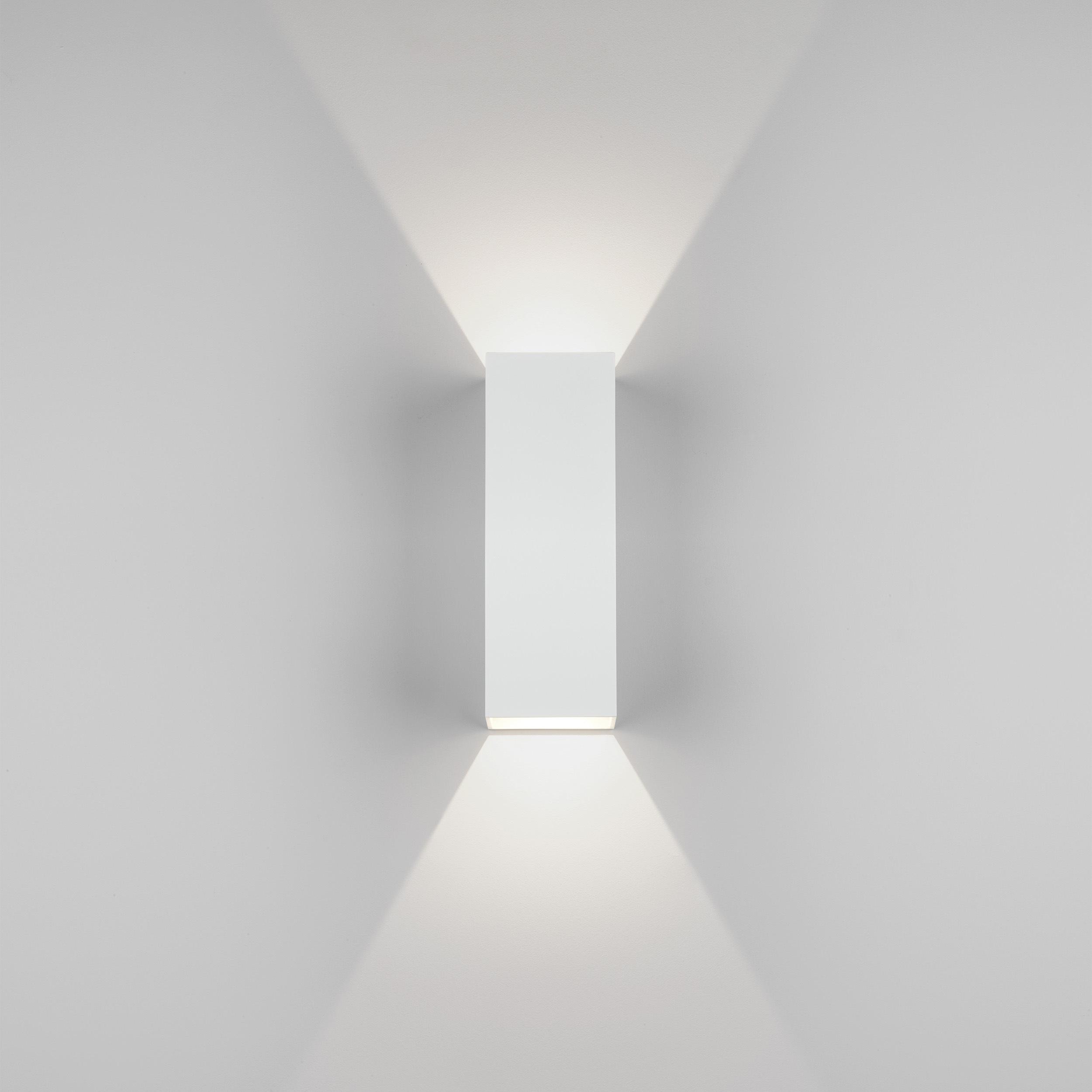 Настенный светодиодный светильник Astro Oslo 1298009 (7991), IP65, LED 7,5W 3000K 270.46lm CRI80, белый, металл, стекло - фото 2