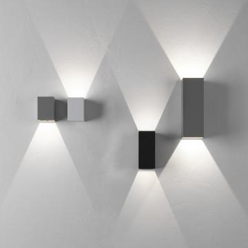 Настенный светодиодный светильник Astro Oslo 1298009 (7991), IP65, LED 7,5W 3000K 270.46lm CRI80, белый, металл, стекло - миниатюра 4