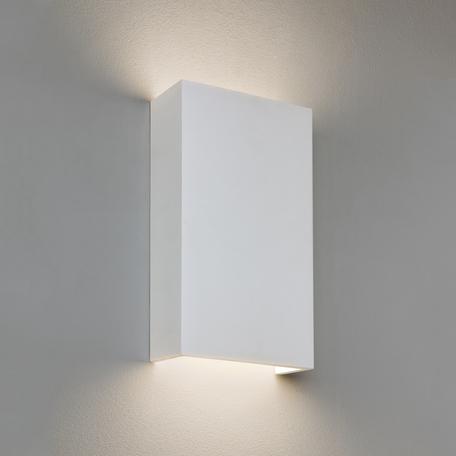 Настенный светодиодный светильник Astro Rio 1325010 (8054), LED 16,6W 2700K 1637.4lm CRI80, белый, под покраску, гипс