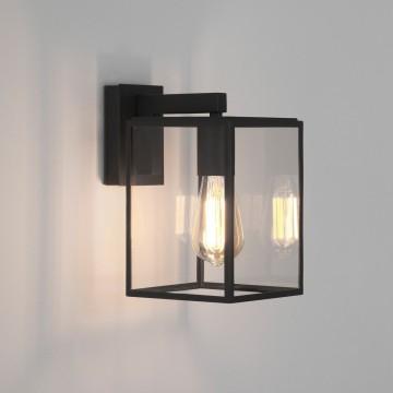 Настенный фонарь Astro Box 1354003 (8048), IP23, 1xE27x60W, черный, прозрачный, металл, стекло