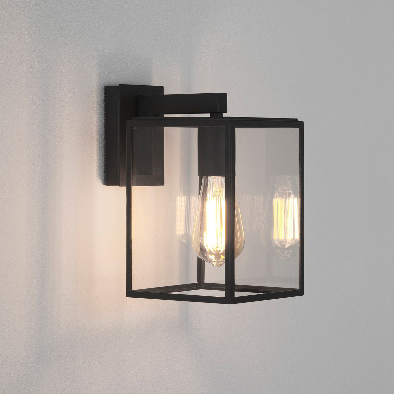 Настенный фонарь Astro Box 1354003 (8048), IP23, 1xE27x60W, черный, прозрачный, металл, стекло - фото 1